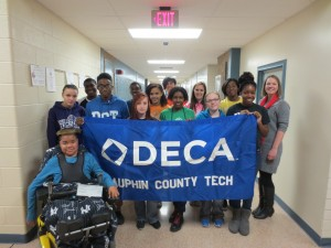Students present check to MDA.