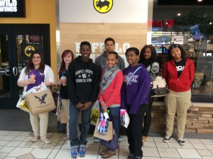 Retail Marketing & Sales students of DCTS at Buffalo Wild Wings in Colonial Park Mall